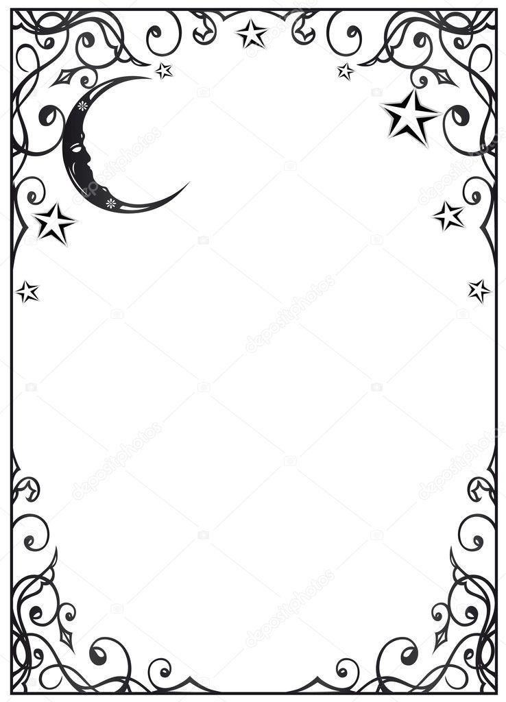 Moon, stars