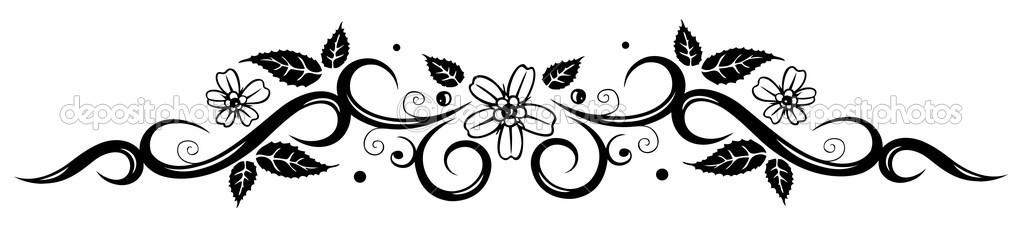 Leaf black and white border elegant abstract black border like as filigree and abstract black flowers border vector by with leaf black and white border mightylinksfo