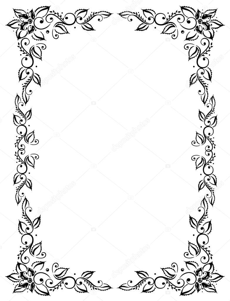 marco hojas vector de stock christine krahl 34407791. Black Bedroom Furniture Sets. Home Design Ideas