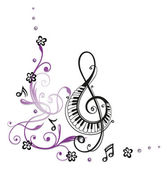 hangjegykulcs, zene
