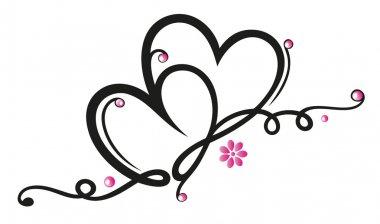 Hearts, flowers