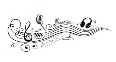 Clef, music notes