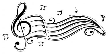 Clef with music sheet