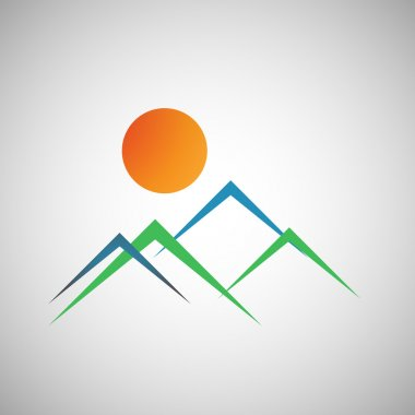 Vector mountains icon