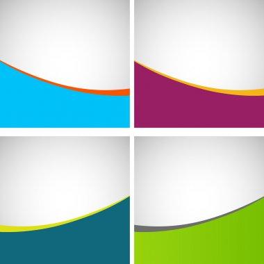 Set of simple stylish backgrounds, eps