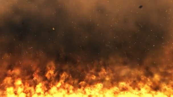 zuřící plameny - smyčka