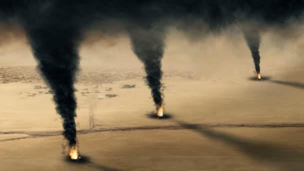 Kuwaiti oil well fire - loop