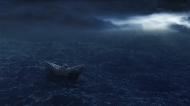 papír csónak az óceánban
