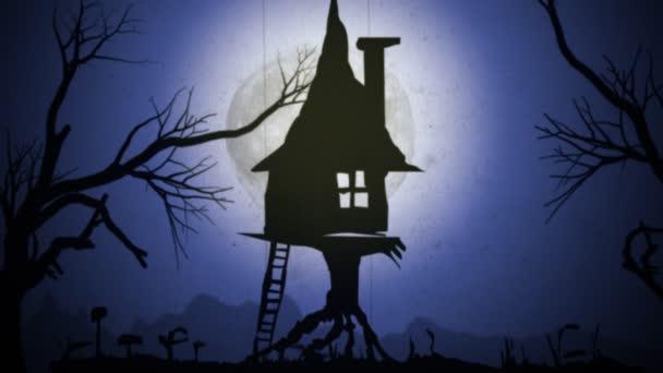Čarodějnice je noční let - stínové divadlo