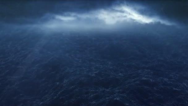 Bouře nad oceánem hd1080p smyčka