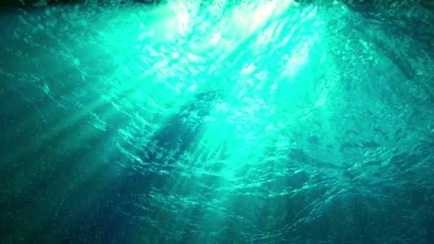 opakování animace vlny oceánu od pod vodou