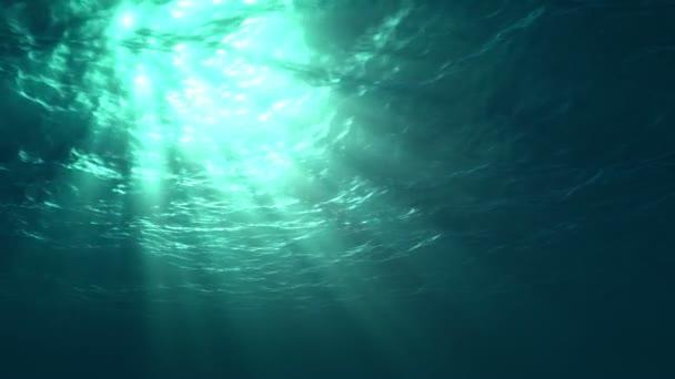 Ocean surface seen from underwater