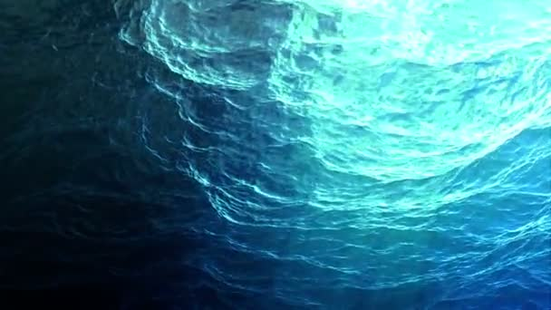 Looped ocean surface seen from underwater with fast moving camera (hd, 1080p high definition, seamless loop)