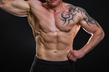 Bodybuilder with tattoos