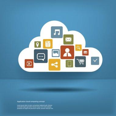 Cloud computing concept design layout