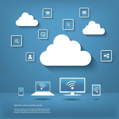Cloud computing concept infographics