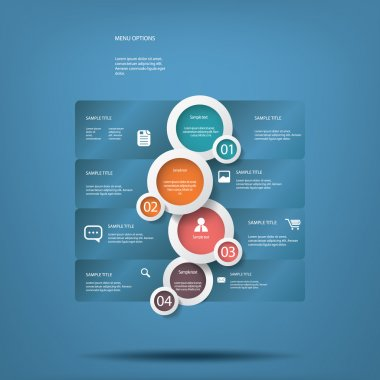 White circles menu options vector illustration suitable for web design or infographics