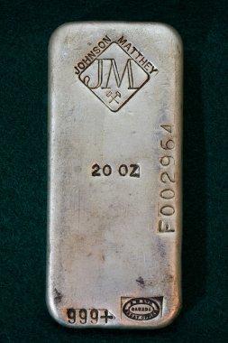 Vintage Johnson Matthey Company Silver Bullion Bar
