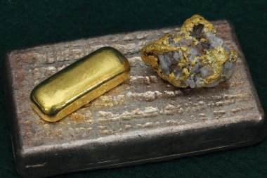 Gold and Silver Bullion and Natural Gold Nugget