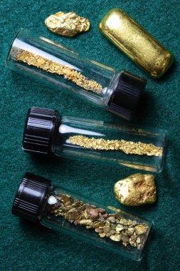 Gold Bar and Natural Gold Nuggets