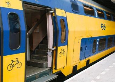 Train at Eindhoven railway station