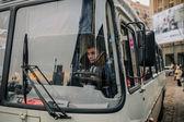pořádkové policie autobus během euromaidan protesty v Kyjevě, prosinec 2013