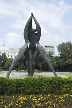 Statue in a garden, Klafthmonos Square
