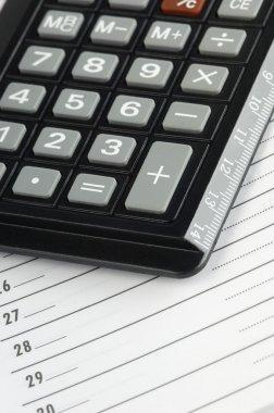Calculator on a personal organizer