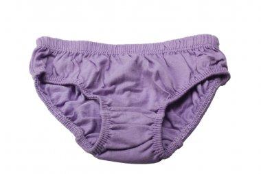 Close-up of purple underpants