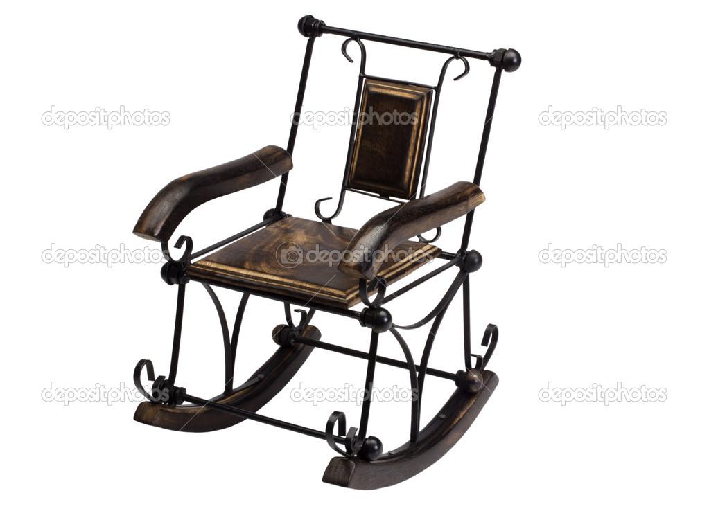 gros plan d 39 un fauteuil bascule photographie imagedb seller 32985211. Black Bedroom Furniture Sets. Home Design Ideas
