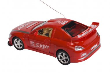 Close-up of a remote controlled toy car