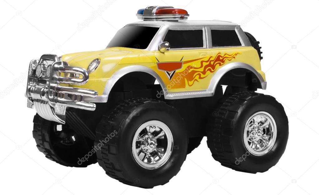 Nahaufnahme von einem Spielzeug-Monster-truck — Stockfoto ...
