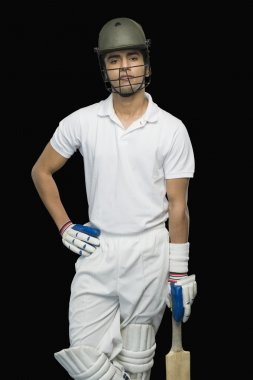 Cricket batsman standing at a non-striker end
