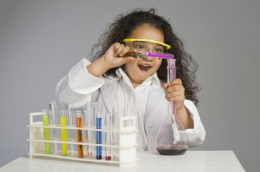 Scientist researching in the laboratory