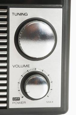 Control Knobs on a radio
