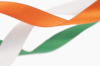 Ribbons representing Indian flag colors