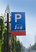 Fotografie Close-up of a parking sign