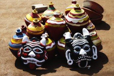 Decorative pots with nazar battus