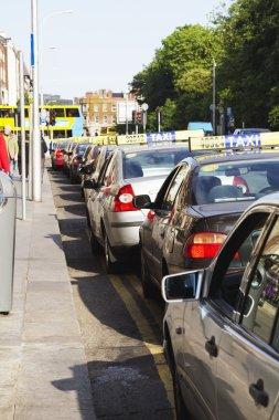 Traffic jam in a city