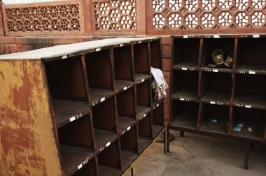 Shoe counter at Taj Mahal, Agra