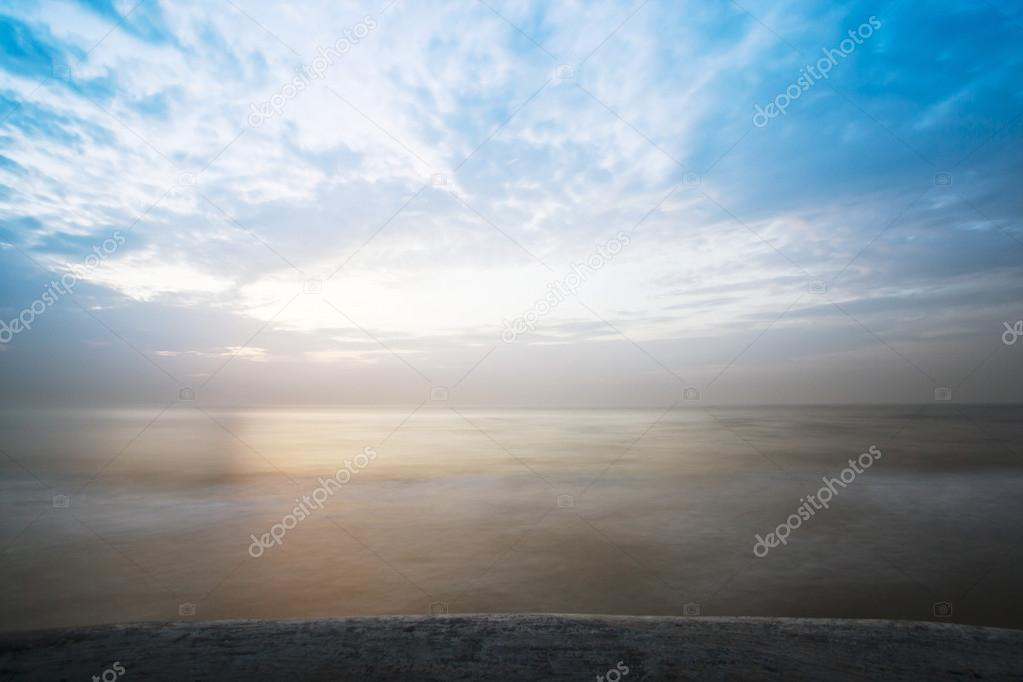 Clouds over the sea