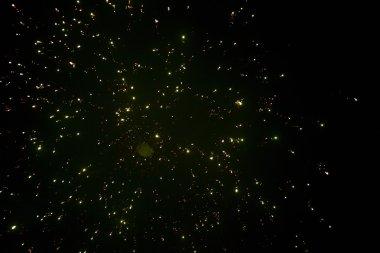 Fireworks display at night on Diwali