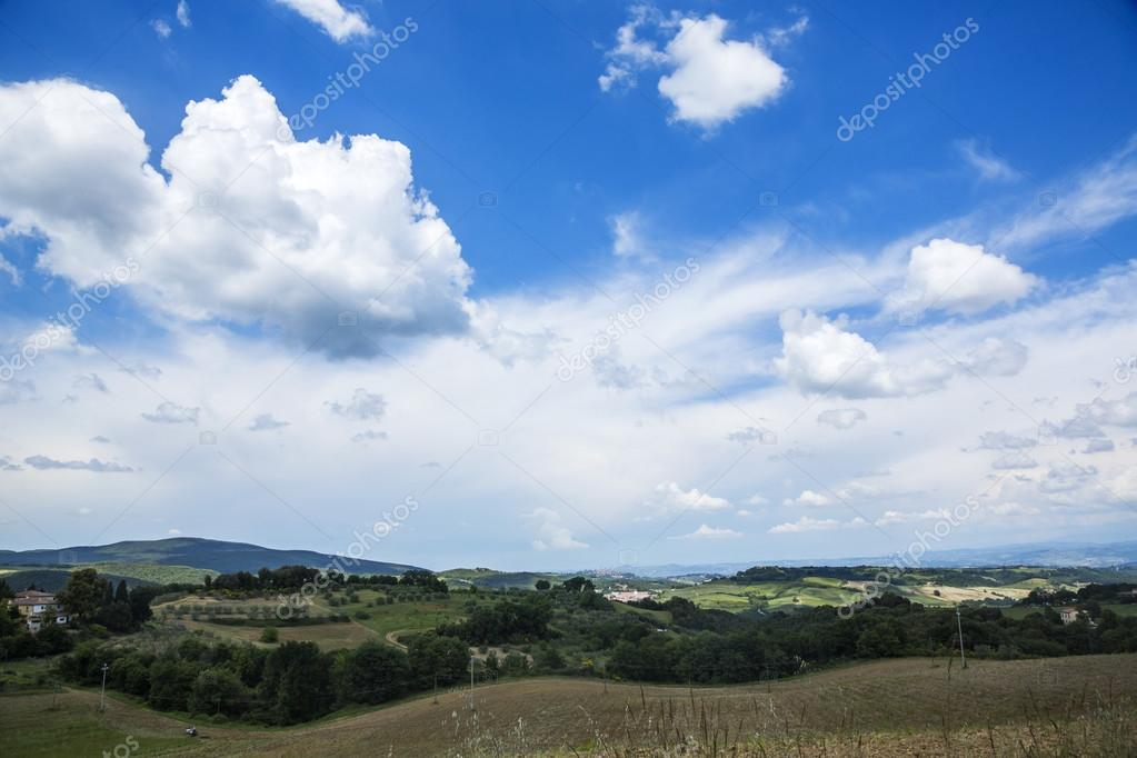 Clouds over a landscape