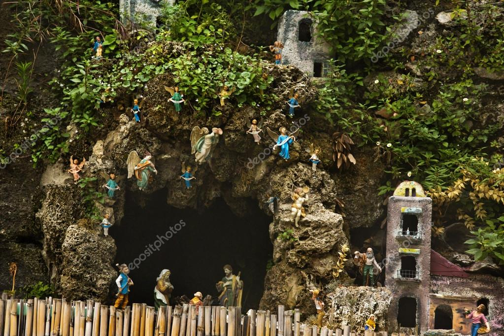 Cave and miniature houses