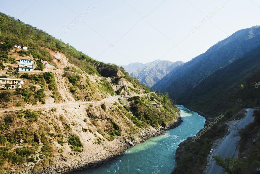 Bhagirathi River at Gangotri, Uttarkashi District, Uttarakhand,