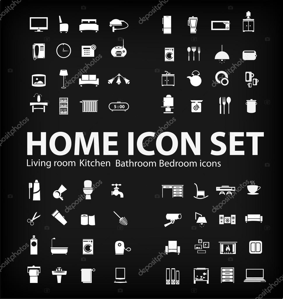 Illustration of home icons set