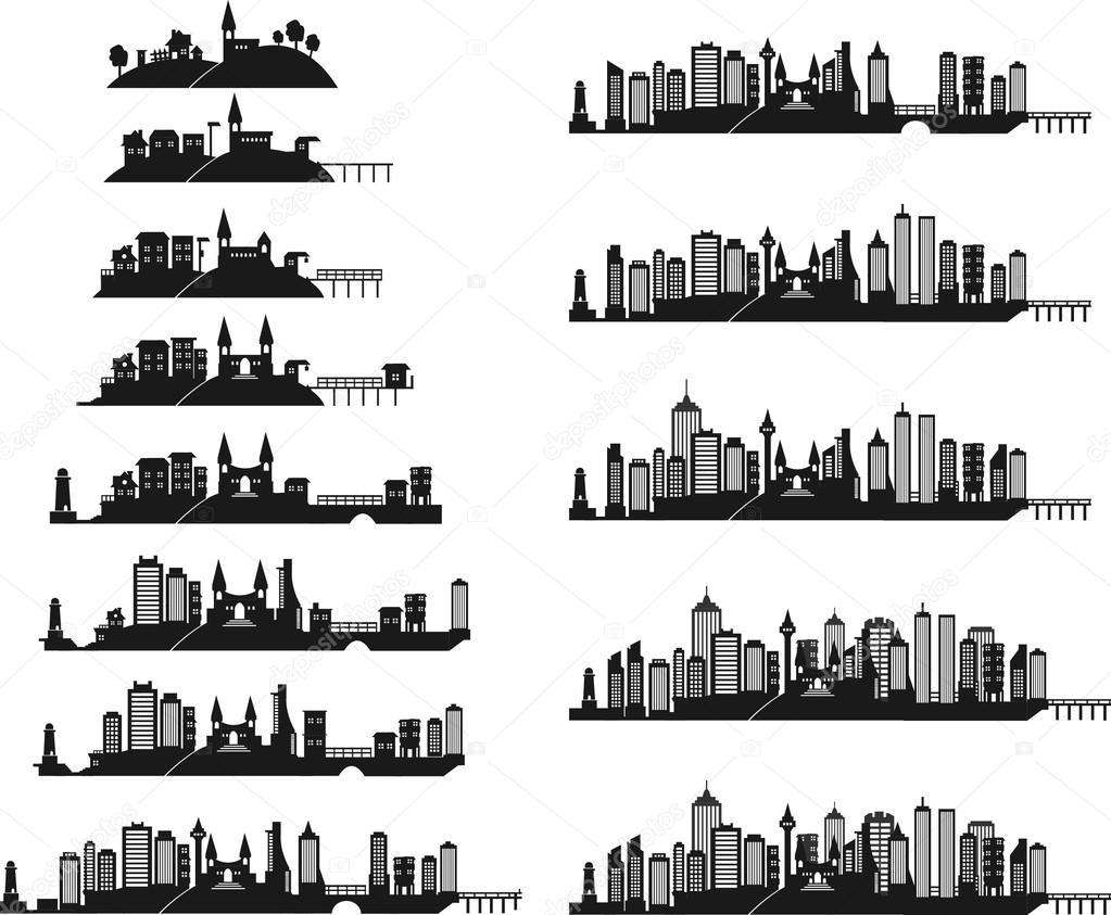 Black city icons set — Stock Vector © Sky-Designs #37845773