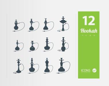 Illustration of Hookah icons