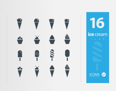 Illustration of Ice cream icon set