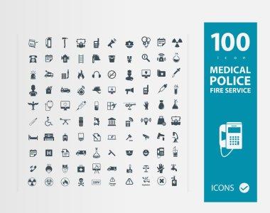 Illustration of services icon set